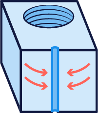 Illustration of sink marks in injection molding