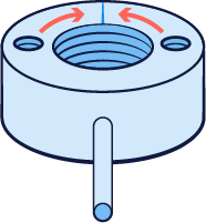 Illustration of weld in injection molding